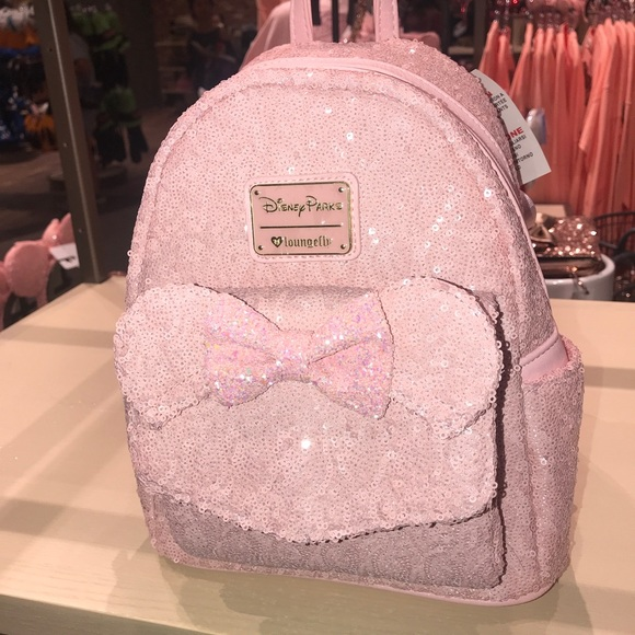 4e3acc51440 Millennial Pink Loungefly Backpack Disney